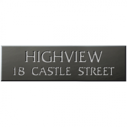 21 x 6 Inch Welsh Slate House Name Sign