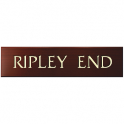 18 x 4½ Inch Solid Oak Name Plaque