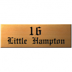 18 x 6 Inch Slid Wood House Name Sign