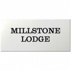 21 x 10 Inch Solid Wood Name Plaque
