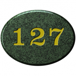 8 Inch x 6 Inch Oval Granite House Number