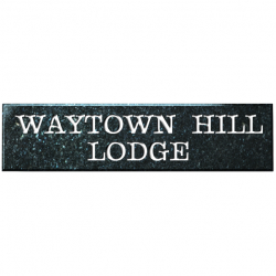 24 Inch x 6 Inch Rectangle Granite House Name