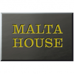 9 x 6 Inch Welsh Slate House Name Plaque