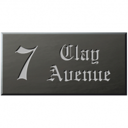 12 x 6 Inch Welsh Slate House Name Plaque
