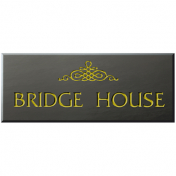 15 x 6 Inch Welsh Slate House Name Sign