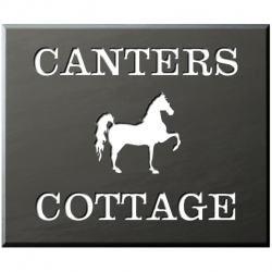 12 x 10 Inch Welsh Slate House Name Sign