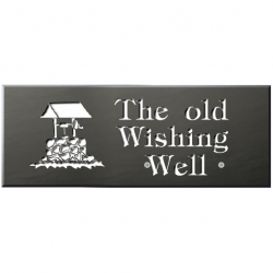21 x 8 Inch Welsh Slate House Name Plaque