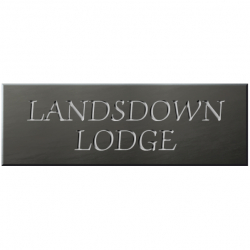 24 x 8 Inch Welsh Slate House Name & Number Plaque