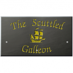 18 x 10 Inch Welsh Slate House Sign