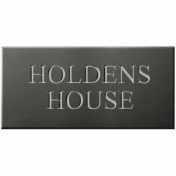 21 x 10 Inch Welsh Slate House Name Sign