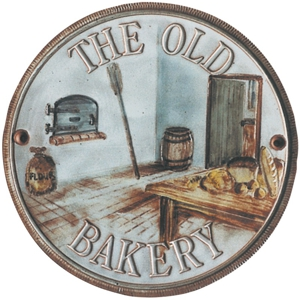 Terracotta plaque showing an old bakery