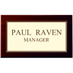 4 Inch x 2 Inch Engraved Laminate Sign