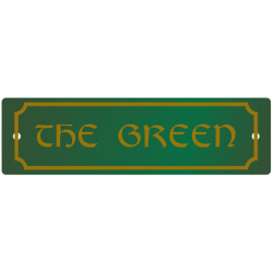 7 Inch x 2 Inch French Collection Name Plaque with Scolloped Border
