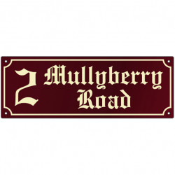 14 Inch x 5 Inch French Collection Name Plaque with Scolloped Border