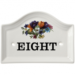 165x121mm Ceramic House Number Wall Plate