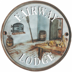 9 Inch Diameter Terracotta Wall Plate House Sign with Kitchen