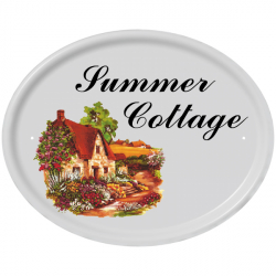 15 x 12 Inch Oval Name Ceramic Wall Plate
