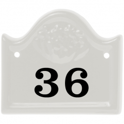 5 x 5 Inch Arched Bridge Top Ceramic Number Wall Plate
