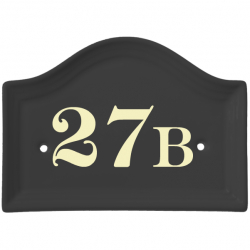6½ x 4¾ Inch Bridge Top Ceramic Number Wall Plate