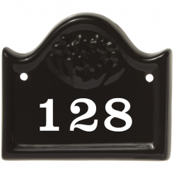 5½ x 5 Inch Arched Bridge Top Ceramic Number Wall Plate