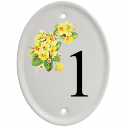 4¾ x 6¼ Oval Ceramic Number Wall Plate