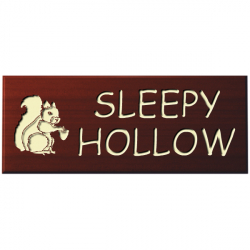 15 x 6 Inch Solid Wood House Name Plaque