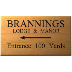 18 x 10 Inch Wooden House Name Plaque