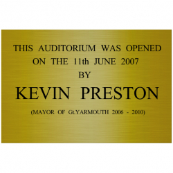 12 x 8 Inch Engraved Brass Wall Sign