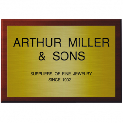 12 x 8 Inch Engraved Brass Sign with Base