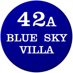 12 Inch Diameter Circular UPVc Name Plaque with Bevelled Edge