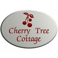 10 Inch x 7 Oval UPVc Name Plaque with Bevelled Edge