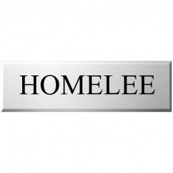 10 Inch x 3 Inch High Rectangular UPVc Name plaque with Bevelled Edges