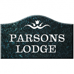 12 Inch x 8 Inch Bridge Top Granite House Name Sign