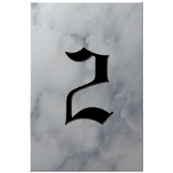 4 Inch x 6 Inch Budget Marble House Number Plaques