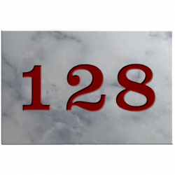 6 Inch x 4 Inch Budget Marble House Number Plaques