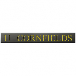 18 Inch x 2½ Inch Welsh Slate Name Plaque