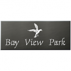24 x 10 Inch Welsh Slate House Name Plaque