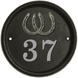 9 Inch Diameter Cast Victorian Number Plaque