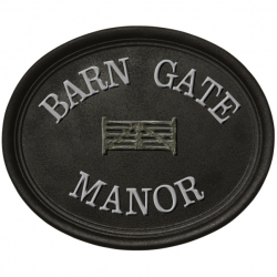 15 Inch x 12 Inch Oval Cast Victorian Name Plaque