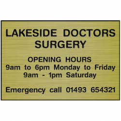 12 Inch x 8 Inch Engraved Laminate Sign